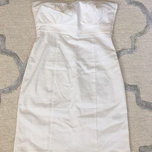 White strapless H&M dress